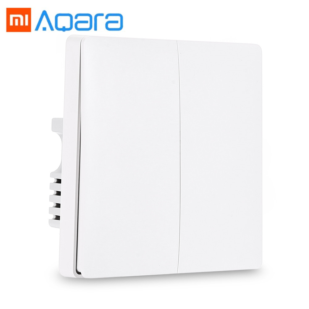 Xiaomi Aqara Wall Switch Smart Light Control ZiGBee Wireless Key and Wall Switch Via Smarphone APP Remote Smart Home Kit Switch цена и фото