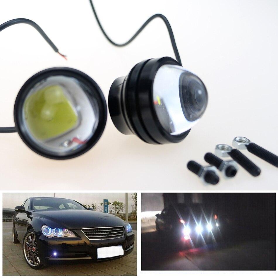 LVTUSI 2PCS Super Bright Daytime Running Light LED Cahaya Eagle Eye - Lampu kereta - Foto 5