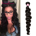 7A 1PC Peruvian Virgin Hair Loose Wave Unprocessed Peruvian Loose Wave Hair Bundles Human Hair Weaves Sunny Queen Hair Products