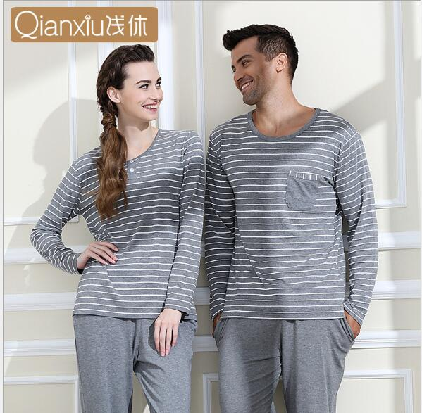 2346844b32 Qianxiu New Model Long Sleeve Pajamas Set for Couple Comfertable Home  Sleepwear Lovers Brand Home clothing 1308-in Pajama Sets from Men's Clothing  & ...