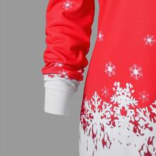 Feitong Womens Sweatshirt Sexy Off Shoulder Merry Christmas Santa Snowflake Print Tops Long Sweatshirts sudaderas mujer 2018 New