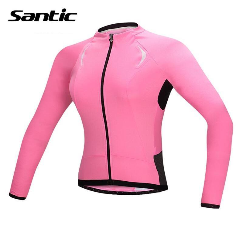 Santic Women Cycling Long Sleeve Jersey Spring Autumn Mountain Bike Bicycle Jerseys Shirt Cycling Sports Clothing Ropa Ciclismo women s cycling shorts cycling mountain bike cycling equipment female spring autumn breathable wicking silicone skirt