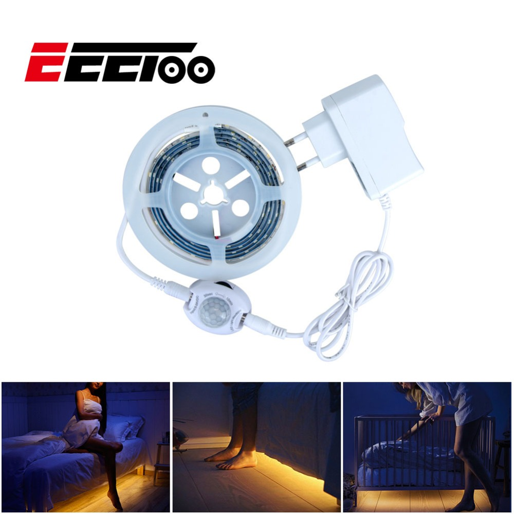 EeeToo Motion Sensor LED Strip Light SMD 2835 Waterproof Fita Led Diode Tape Lights Nightlight Bedroom Stair Closet Illumination