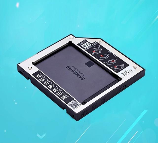 Frete Grátis 12.7mm SATA HDD caddy 3.0 Bandeja Suporte Óptico DVD/CD-ROM BAY para 12.5mm SSD