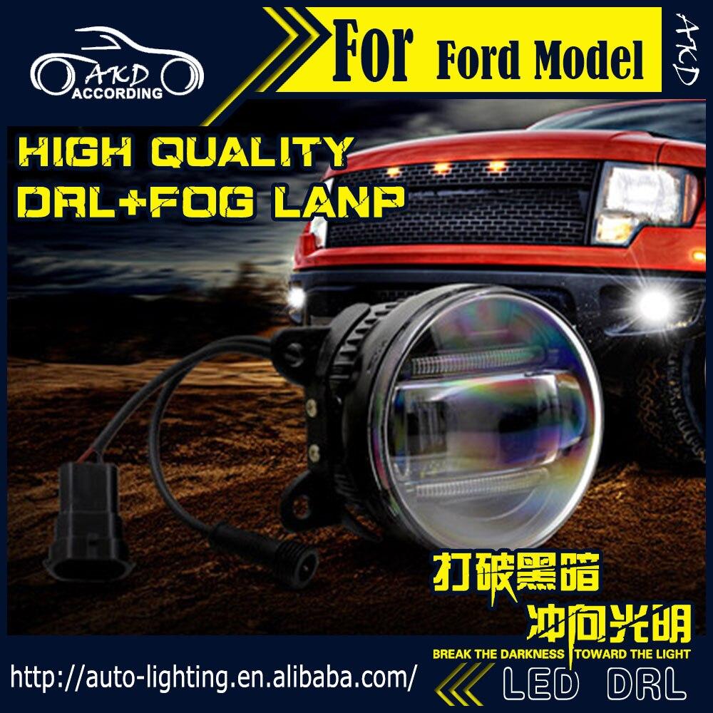 Akd car styling fog light for subaru legacy drl led fog light led headlight 90mm high