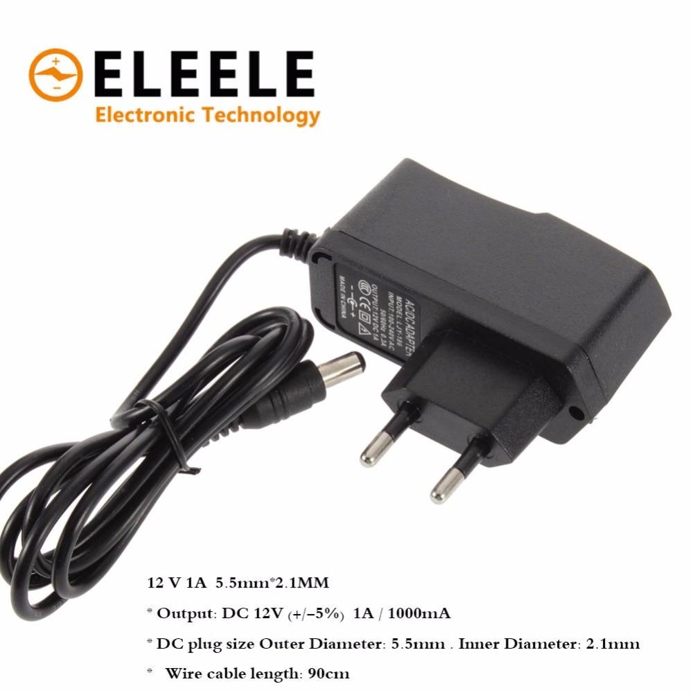 100-240V AC to DC Power Adapter Supply Charger adapter 5V 12V 1A 2A US EU Plug 5.5mm x 2.5mm for Switch LED Strip Lamp PN35 5v 2a ac power charger adapter for tablet pc black eu plug 100 240v 100cm cable