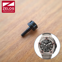 6 prongs black watch bezel screw for IWC INGENIEUR FAMILY 45mm 46mm watch case/bezels micro screw watch parts IW379602