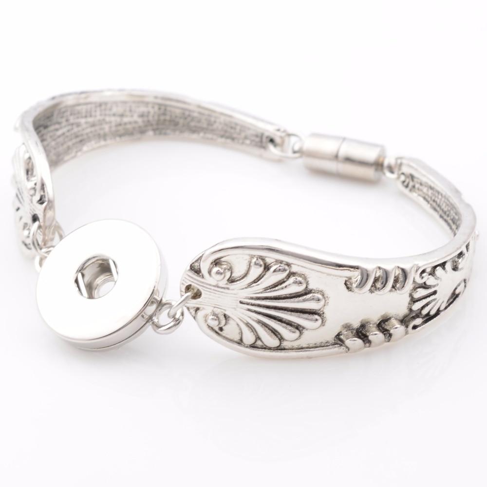 Interchangable button charm Bracelet fit 18mm button, button bracelet NB5176