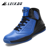 LEIXAG Men   Basketball     Shoes   Breathable Outdoor Anti-skid   Shoes   High Top Men Leahter Sports   Shoes   Gym Athletic Training Sneakers