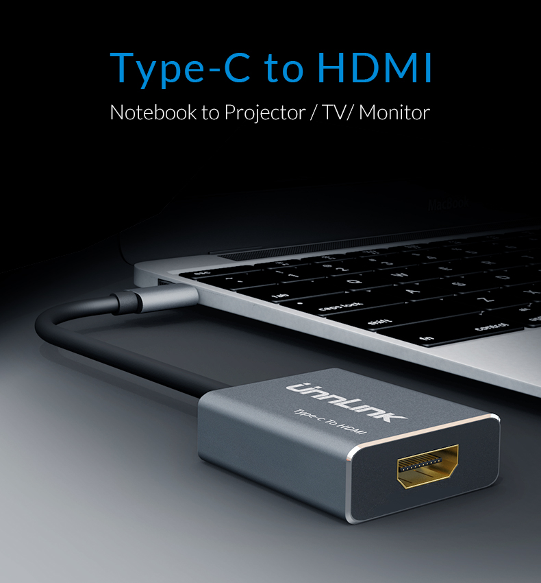 USB C to HDMI 4K 60HzUSB 3 1 Type C to HDMI Adapter for MacBook for
