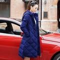 2016 Autêntico Inverno Coreano Engrossado Cintura Fina Na Altura Do Joelho Código de Vestimenta Longa Jaqueta Mulheres Jaqueta Mulheres Jaqueta de Inverno Parka