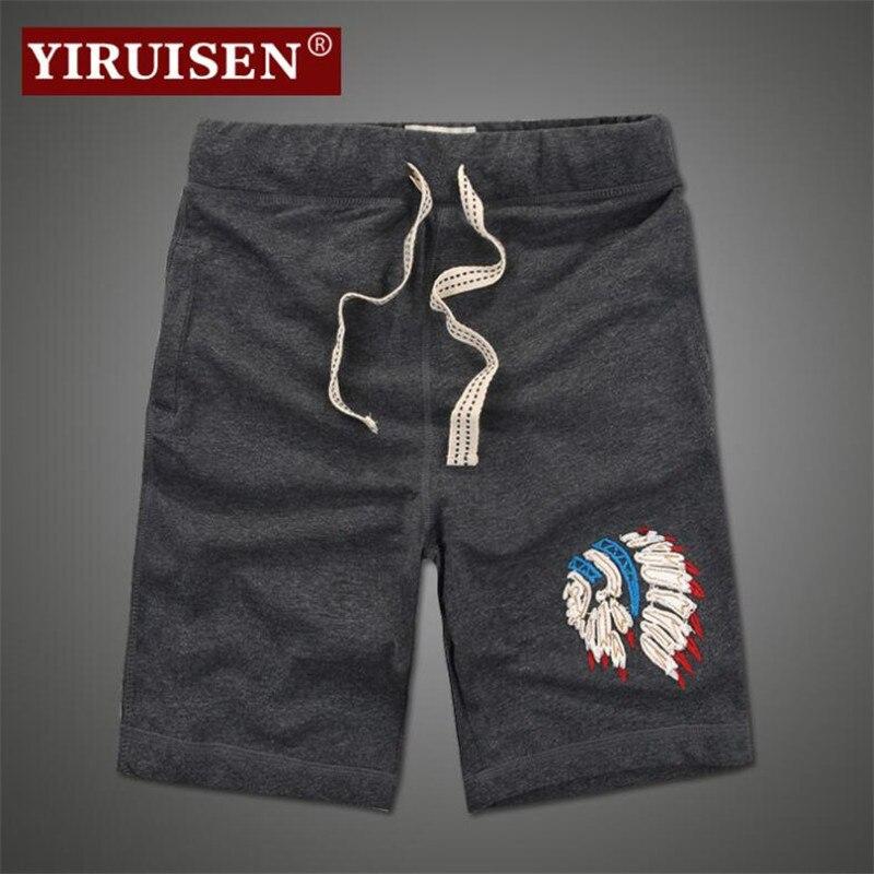 Yiruisen Marke Hochwertigen Männer Board Shorts 3xl 100% Baumwolle Beiläufige 2017 Sommer Kurze Hosen Bermuda Masculina
