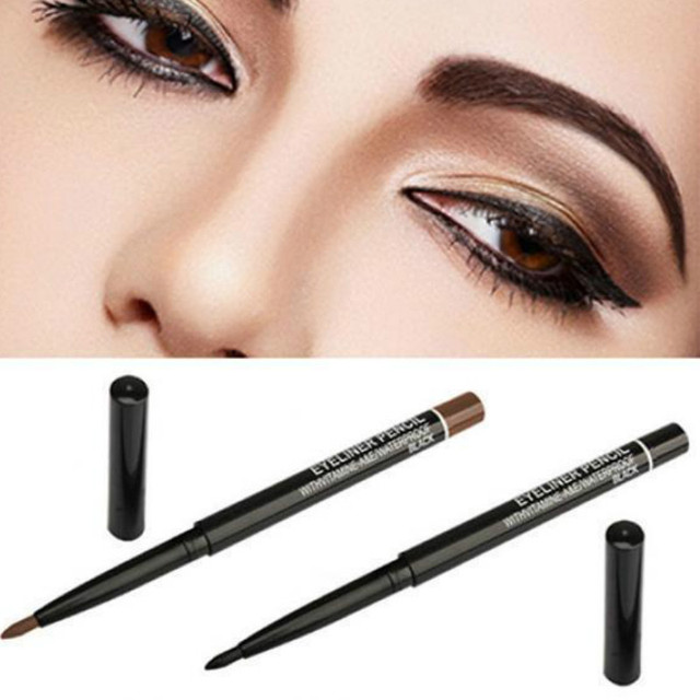 BearPaw Professional Women Waterproof Retractable Rotary Gel Cream Black Brown Eyeliner Pen Eye Liner Pencil Makeup Cosmetic