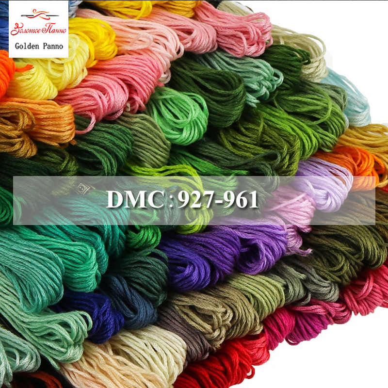 Golden Panno DIY DMC 927-961 Embroidery Floss Embroidery Threads 10PCS/lot 1.2M Cross-stitch kit Cross stitch Floss Kits 11.12