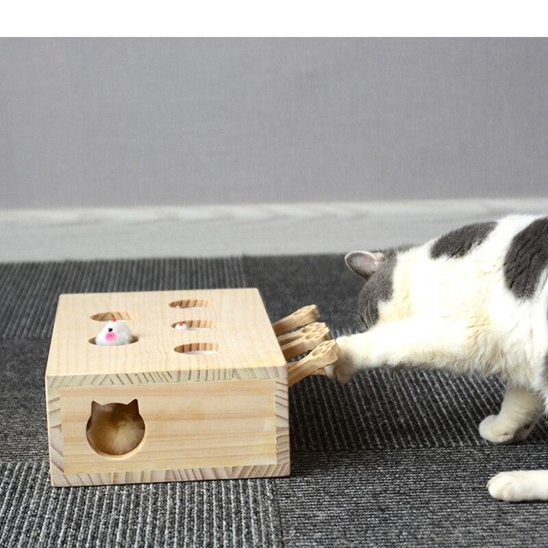 Jouet chaud pour chat Hamster avec cinq trous trou de souris chat attraper morsure jouet interactif Puzzle fournitures pour animaux de compagnie produits pour animaux de compagnie de haute qualité - 3