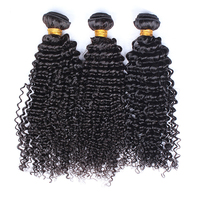 3Pcs Brazilian Kinky Curly Weave Human Hair Bundles Natural Black Color With Full Ends 100% Human Hair Extension CARA Remy