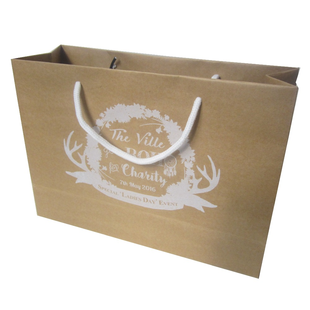 custom paper shopping bags Paper bags are an eco-friendly (and elegant) choice for many businesses, including retail stores, restaurants, supermarkets, spas, and medical offices custom printed paper bags serve as a terrific promotional tool.