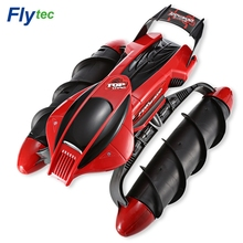 Flytec 989-393 RC Tank Car All Terrain RC Truck 2.4G Amphibious Stunt Waterproof High Speed RC Tank with LED Light RC Toys Gifts