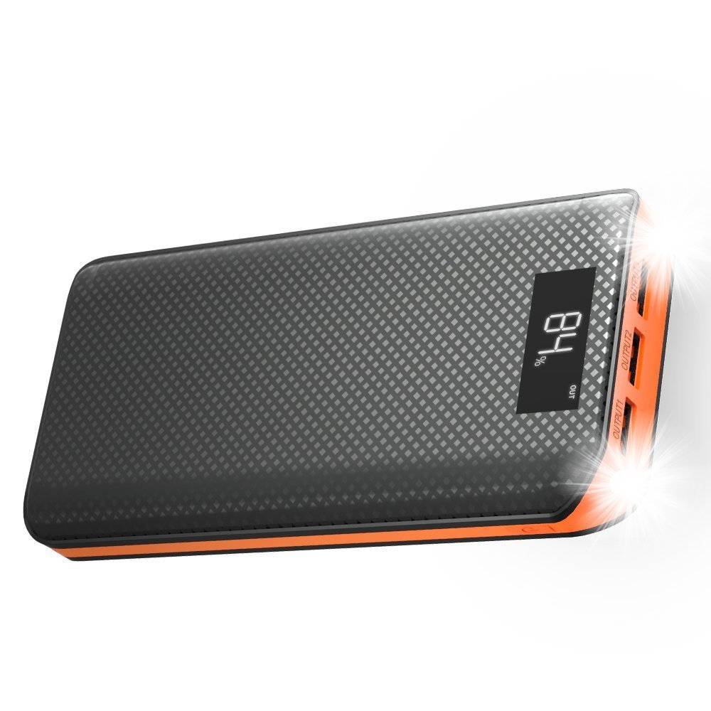 Powerbank 20000 mAh 3 Usb Power Bank LCD Display Battery for Huawei Xiaomi iPhone Samsung LG Sony HTC Bluetooth Speaker etc.