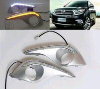 Daytime Running Light For Toyota Highlander 2012 With Amber Turn Signals Light