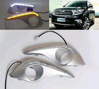Daytime Running Light For Toyota Highlander 2012 With Amber Turn Signals Light