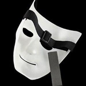 Image 5 - ליל כל הקדושים המפלגה DIY מפחיד מסכות לבן מלא פנים קוספליי מסכות פנטומימת מסכת מסכות כדור מסיבת תחפושות
