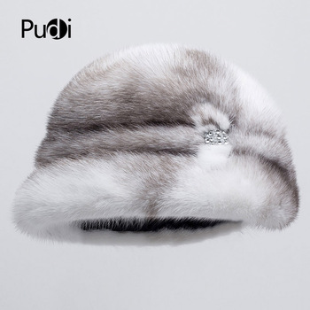 Pudi HF7036 Winter hats for women fashionable mink hat chic style comfortable warm a variety of styles optional