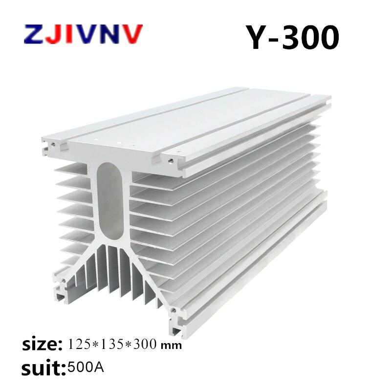 Y300 белый 125*135*300 мм 500A трехфазный твердотельный релейный промышленный SSR радиатор радиатора Y формы