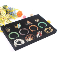 2017 New Arrival Black 12 Grids Removable Empty Jewelry Tray Showcase Bracelet Necklace Ring Watch Display
