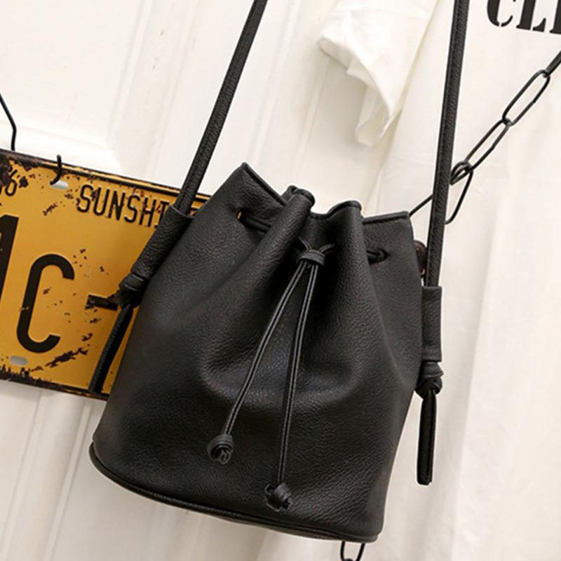 2019 New Women Shoulder Handbag Drawstring Bag Bucket Bag Fashion Women PU Leather Single-shoulder Crossbody Handbag2019 New Women Shoulder Handbag Drawstring Bag Bucket Bag Fashion Women PU Leather Single-shoulder Crossbody Handbag