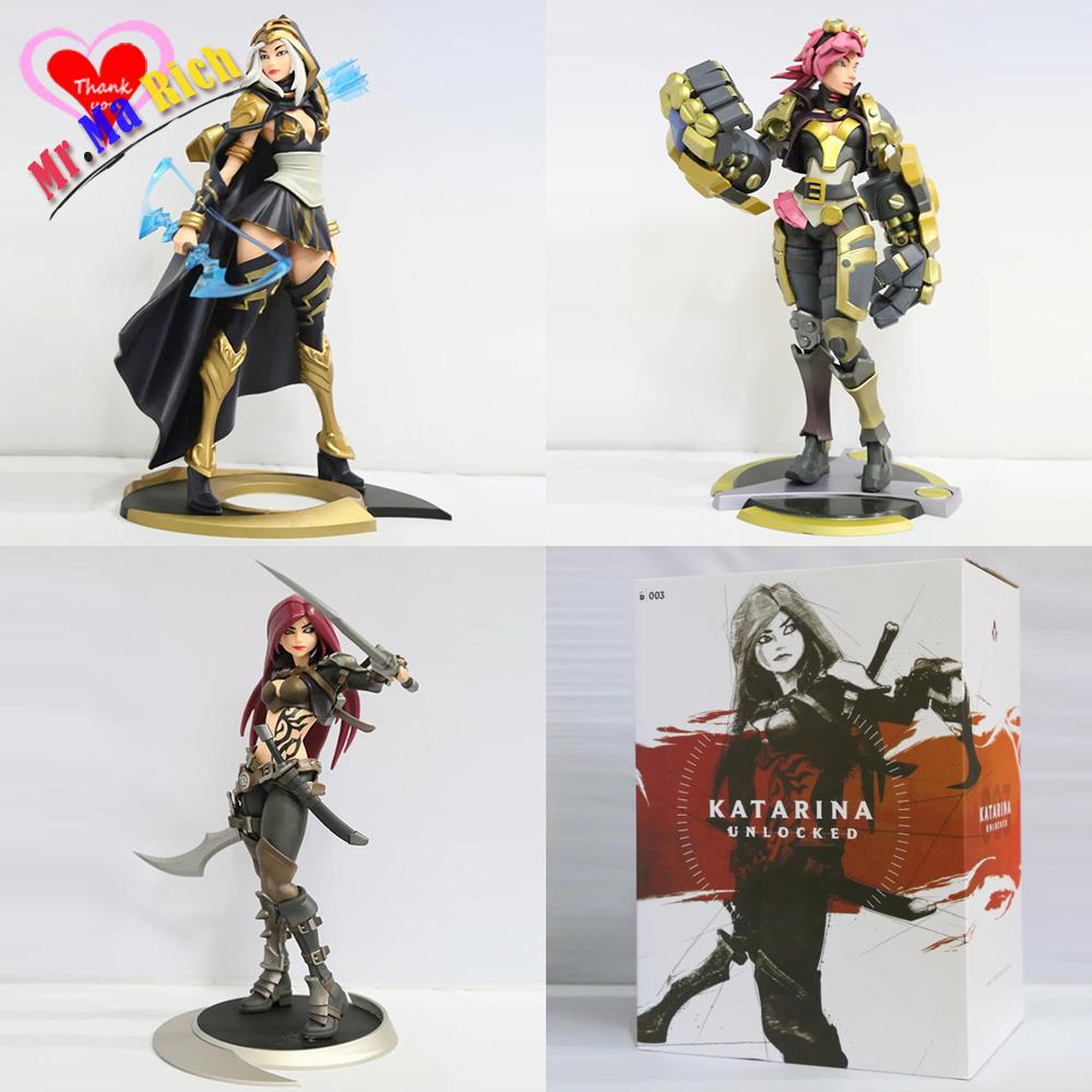 Love Thank You The Piltover Enforcer Vi The Sinister Blade Katarina The Frost Archer Ash PVC Anime figure toy Model gift new цена