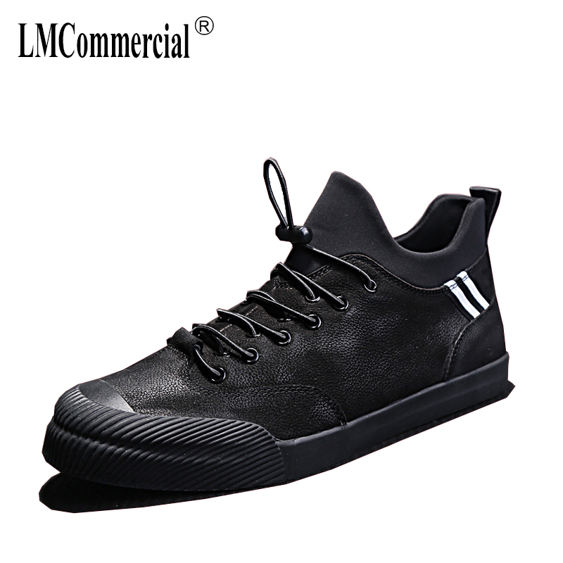 men's shoes spring and autumn summer all-match cowhide breathable sneaker fashion boots men casual shoes Genuine Leather male new genuine leather men s shoes flat all match cowhide breathable sneaker fashion boots men casual shoes spring autumn summer