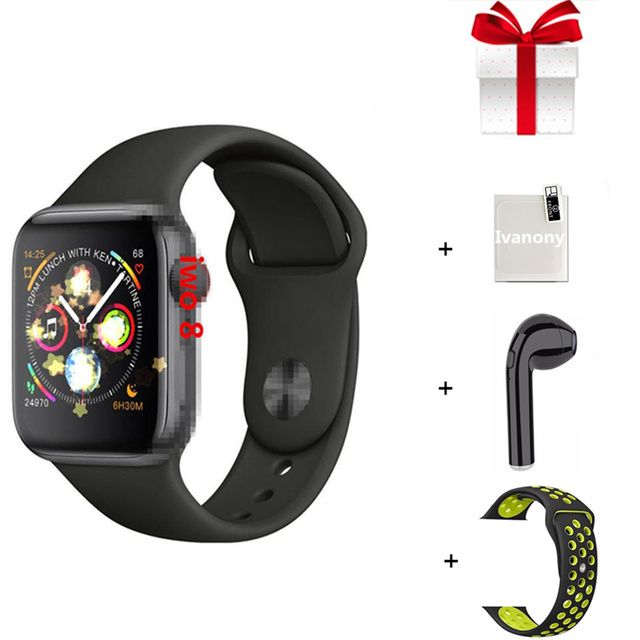 IWO 8 IWO 9 Smart watch 44mm Series 4 case 1:1 Bluetooth Smartwatch Ecg watches for ios android  fast ship for dropshipping