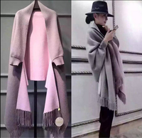 Cardigan Women Long Casual Sweater Hot Sale Pullover 2018 New Winter Knitting Warm Woman Bianfushan Fringed Shawl Coat Female