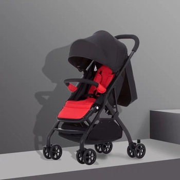 Baby stroller can sit reclining ultra light portable shock absorption folding baby umbrella newborn child child trolley baby stroller can sit reclining two way high landscape summer ultra light portable folding child baby simple umbrella