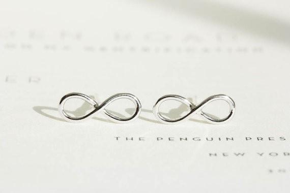Gold, Silver & Rose Infinity Earrings