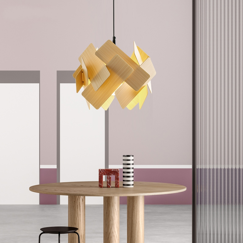 Nordic Modern Minimalist Pendant Lights Creative Wooden Arts Living Room Dining Room Bedroom Acrylic Decor Stack Hanging LampsNordic Modern Minimalist Pendant Lights Creative Wooden Arts Living Room Dining Room Bedroom Acrylic Decor Stack Hanging Lamps