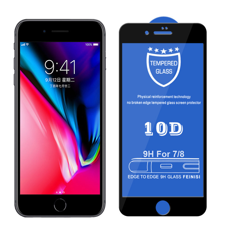 10D Tempered Glass For iPhone Xs Max 7 8 6 Plus Screen