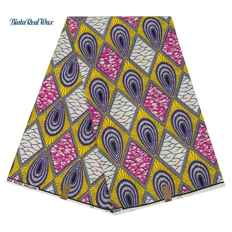 Garantierte Qualität Veritable Dutch Afrikanische Stoffe binta Echt Wachs dutch Echt Wachs Afrikanische Kleidung Baumwolle 6 Yards 24fs1260-in Stoff aus Heim und Garten bei  Gruppe 1