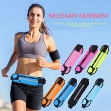 Outdoor Sports Waterproof Running Belt bag Sports Waist phone Wallet for iphone 6 7 Plus S8 Plus Note 8 Phone Bag