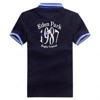 Хит продаж, Франция, бренд eden park, 2019, летние мужские Рубашки Поло, хлопок, короткий рукав, поло, Ультрамодная рубашка для мужчин размера плюс ...