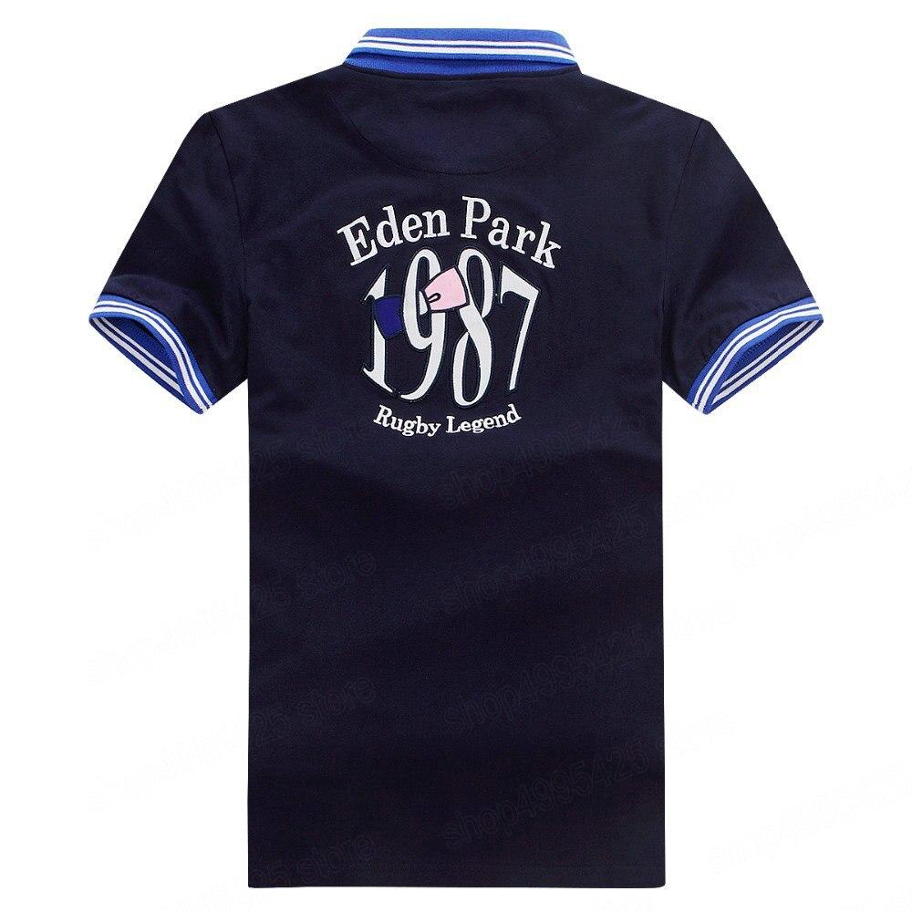 Best selling France brand eden park 2019 Summer Man   Polo   Shirts Cotton Short Sleeve   Polos   Trendy shirt for men plus size XXXL