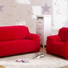 Chezmoi Sammlung Weiche Micro Wildleder Couch/Sofa Abdeckung Schutzhülle mit Gummiband Unter Sitzkissen, Rot