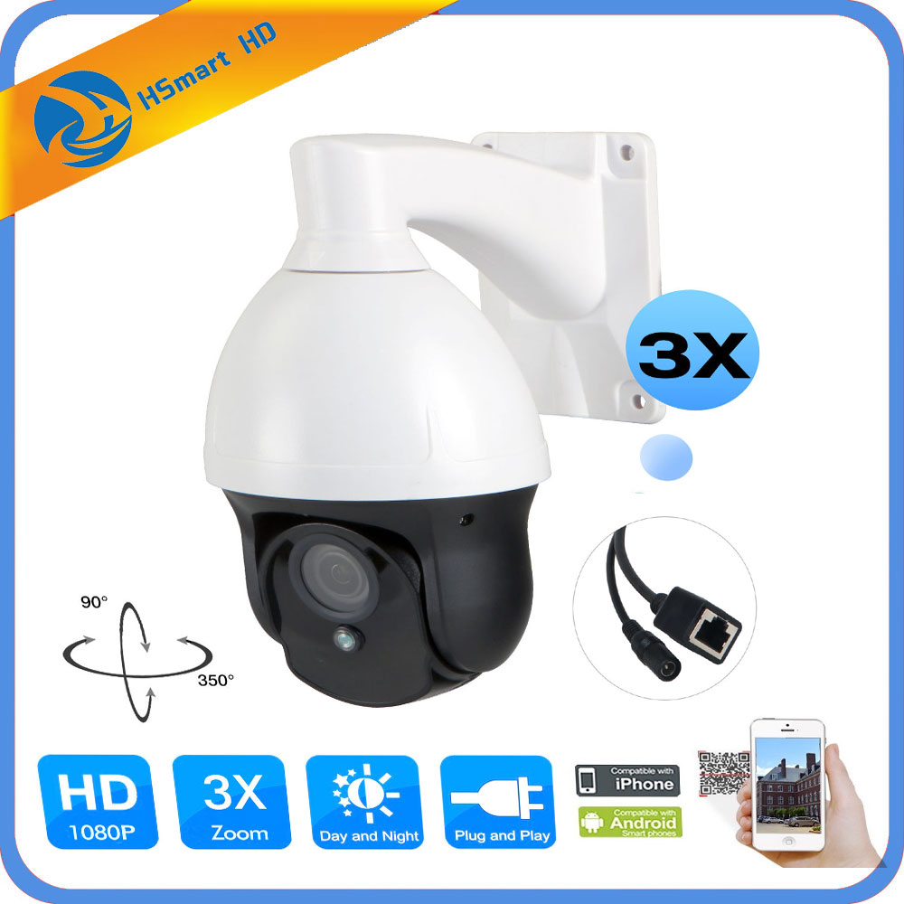 CCTV Security MINI HD IP PTZ Camera 1080P 2.0MP ONVIF IR 2.8-8MM 3X ZOOM Mini Outdoor IP PTZ network surveillance Camera ONVIF