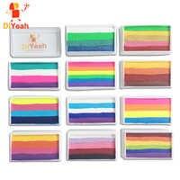 Pro Arcobaleno Corpo Viso Vernice di Trucco Pigmento Pittura 30 g/set Serie Multicolor Body Art per Halloween Neon UV Metallic Viso vernice