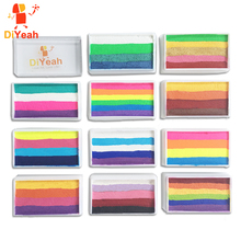 Pro Rainbow pintura corporal para maquillaje, pigmento de 30g/juego, serie Multicolor, arte corporal para Halloween, pintura facial metalizada UV de neón