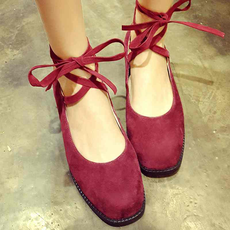 ФОТО 2017 New fashion solid gracefui ankle strap women low heel round toe genuine leather bowtie women causal ballet shoes handmade25