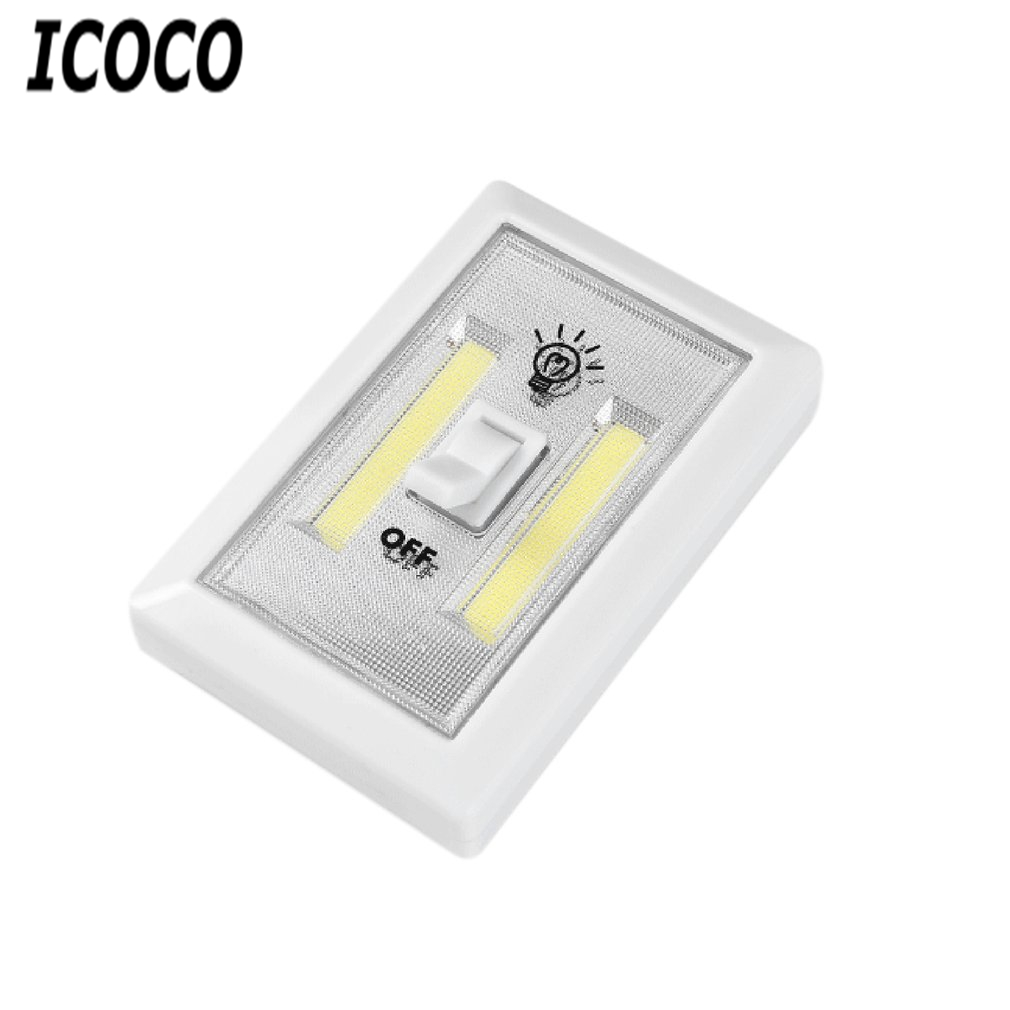 ICOCO Multifunction Square COB Wall Light Aisle Cabinet Lamp For Home Emergency Light With Touch Switch Bedroom Living Room Sale