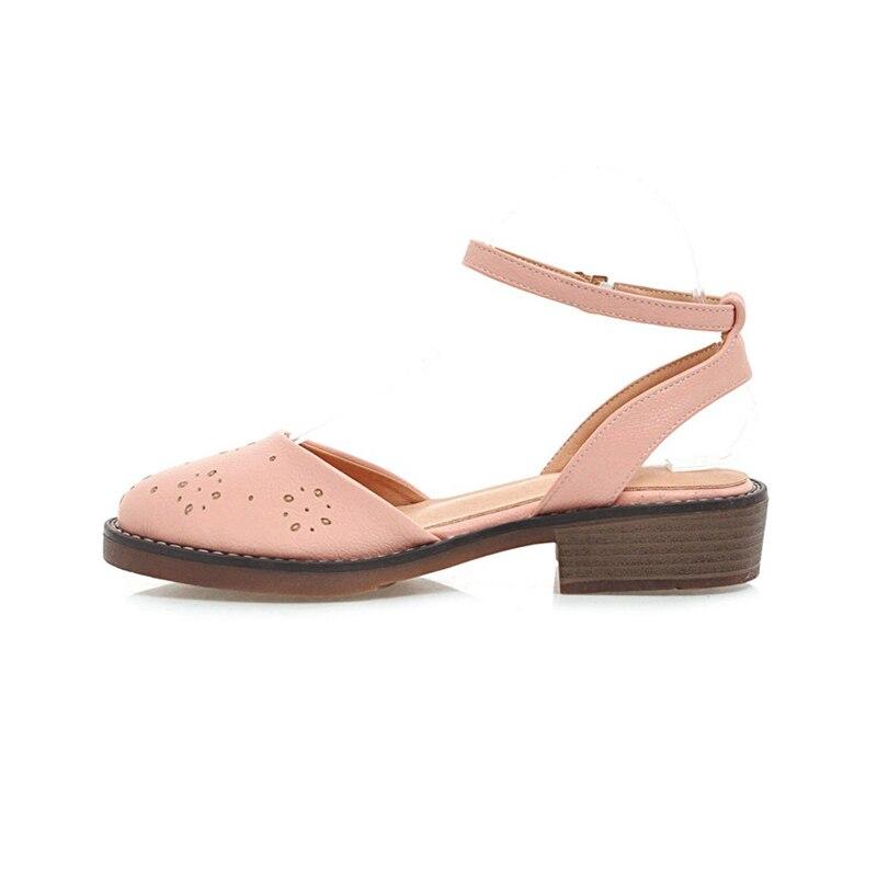 KARINLUNA nueva mujer tobillo correa sólido cuadrado med tacones - Zapatos de mujer - foto 2