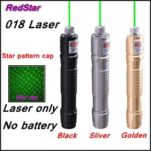 Sale [ReadStar]RedStar 018 high 1W Green laser pointer pen starry head  3 color body Laser only without 18650 battery and charger